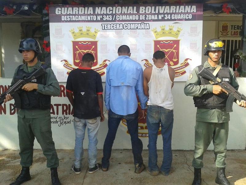 GNB capturó tres violadores y cinco  solicitados