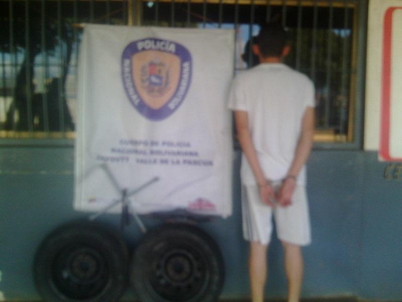 """Detenido en Chaguaramas """"el malaspina"""" con cauchos robados"""