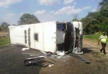 choque de bus y camión
