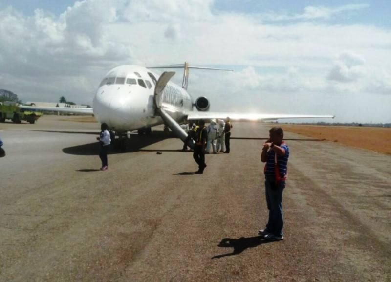 Vuelo 150 de Aeropostal aterrizó de emergencia en Barquisimeto