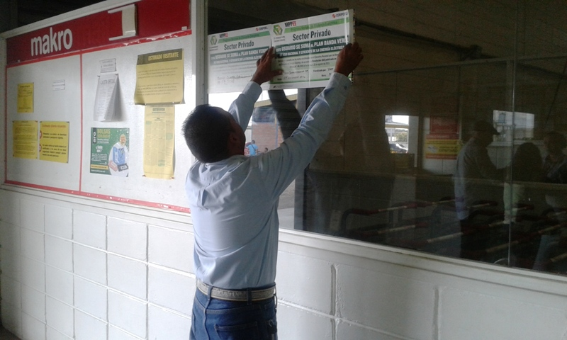 Inspeccionan y verifican en sector empresarial de Guárico cumplimiento de  Ahorro Energético