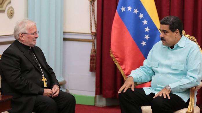 Nicolás Maduro se reunió con el nuncio apostólico