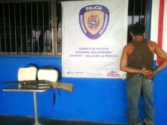 Por robo y porte de arma de fuego la PNB capturo sujeto en Espino (Guárico)