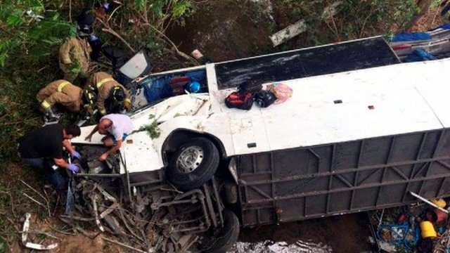 En Panama 15 muertos y 50 heridos en accidente de autobus