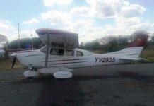Avioneta robada en base aerea