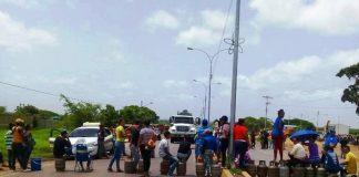 protesta por gas en chaguaramas